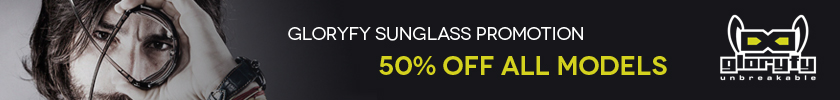 Gloryfy Sunglass Promotion 50% off all models